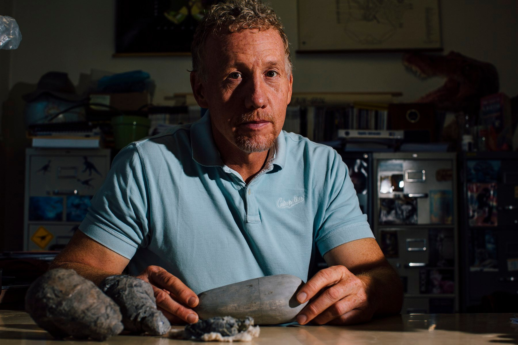 David Varricchio, associate professor of paleontology in the Department of Earth Sciences at Montana State University, co-authored a paper about a new species of tyrannosaur discovered in Montana. MSU Photo by Adrian Sanchez-Gonzalez