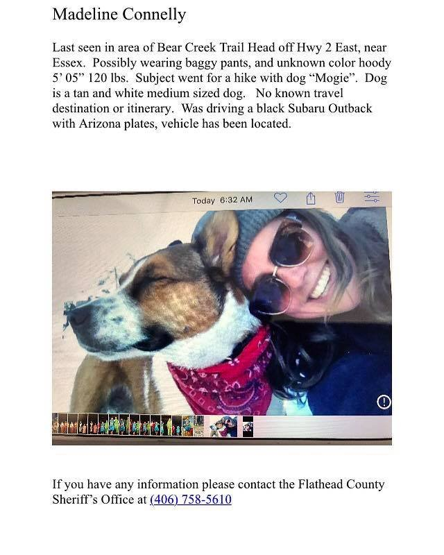 Woman goes missing on hike with her dog in Montana
