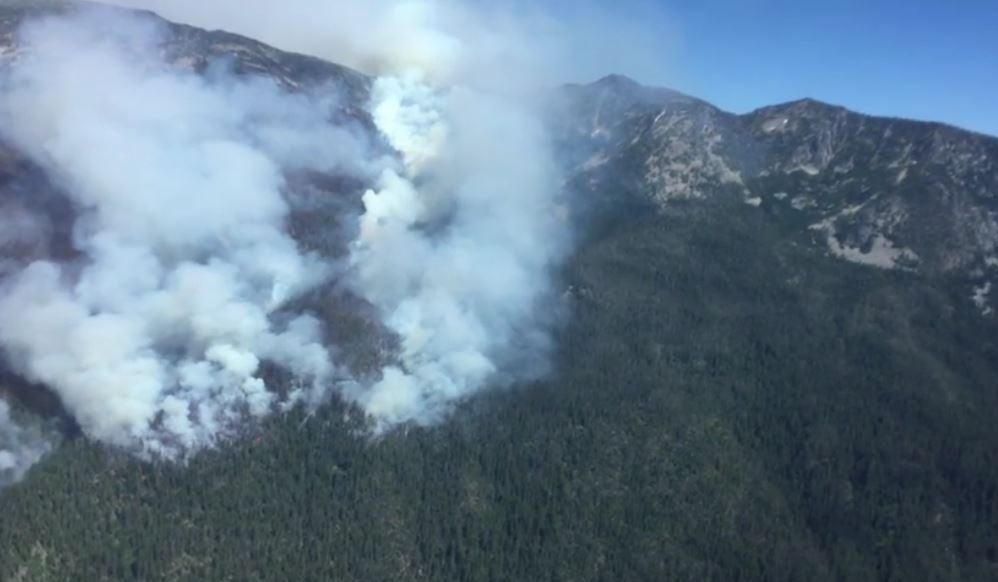 Lolo Peak fire - courtesy Lolo Forest Service