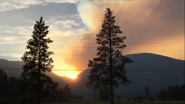 Lolo Peak fire August 2018