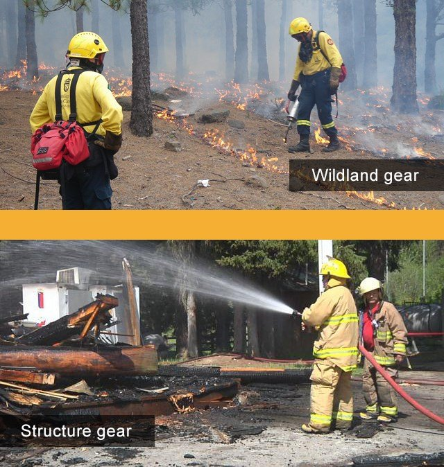 Examples of different gear based on type of fire