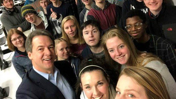 Gov. Bullock spoke to students about net neutrality in Jan. 2018