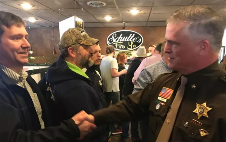 Sheriff Edwards at a campaign event