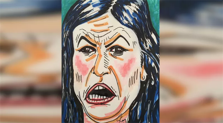 Jim Carrey Shares 'Monstrous' Painting of Sarah Sanders