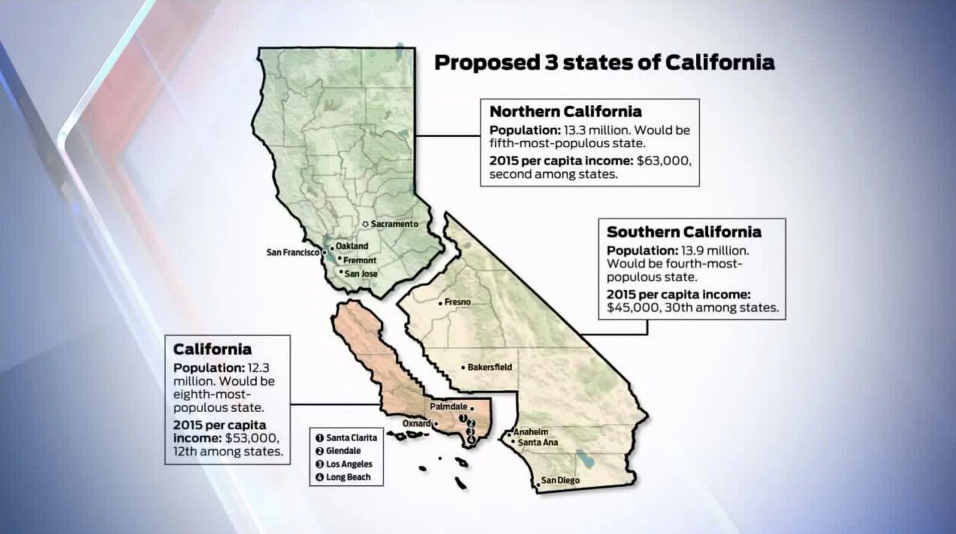 Proposal To Split California Qualifies For Ballot