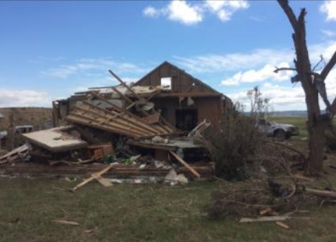 Tornado damage (Photo: NWS Rapid City)