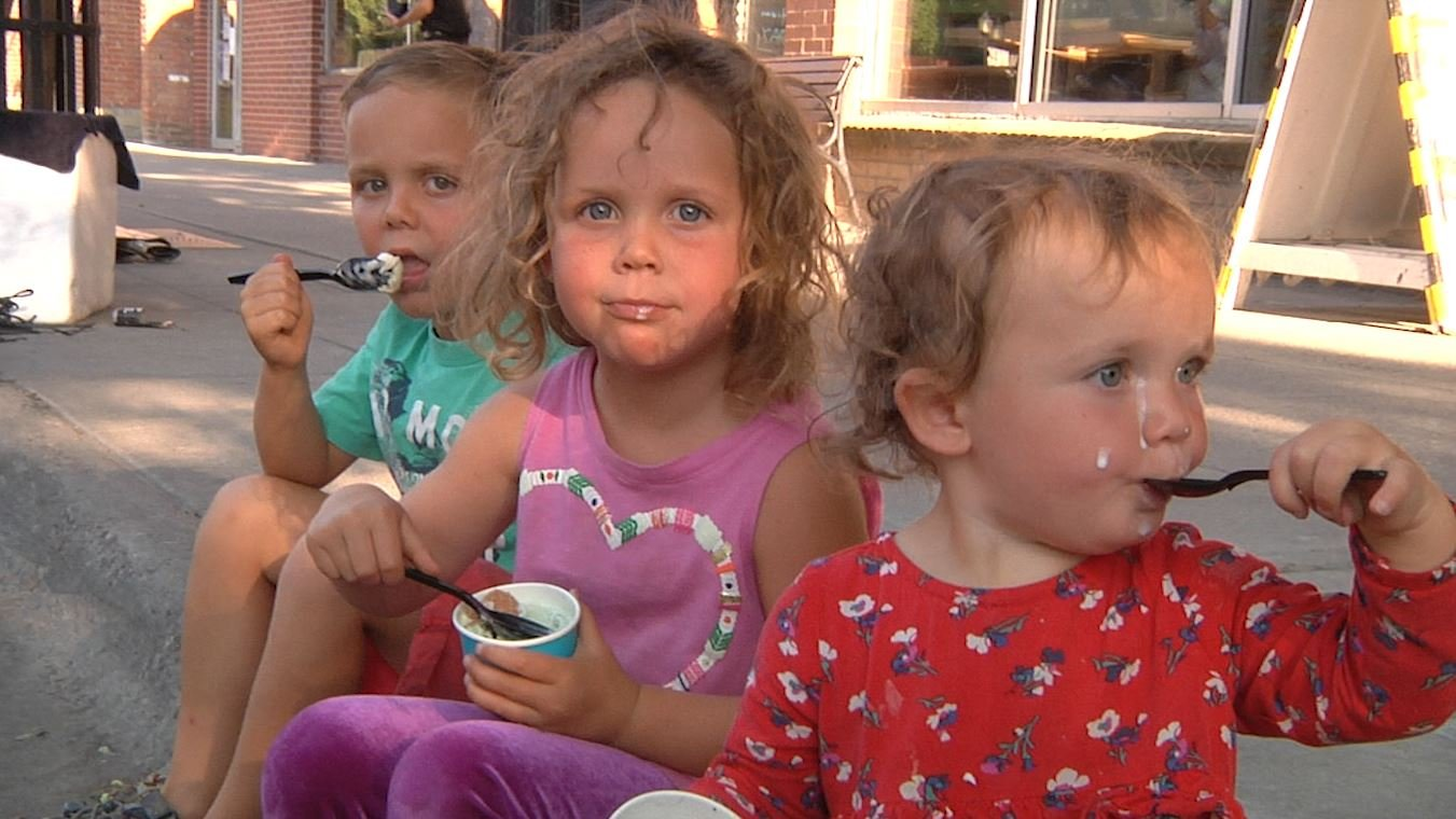 Some young attendees at Music on Main in downtown Bozeman. August 9, 2018