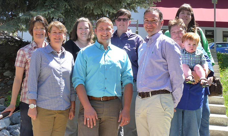 Couples in the ACLU's lawsuit challenging Montana's marriage amendment are Angie and Tonya Rolando of Great Falls, Shauna and Nicole Goubeaux of Billings, Ben Milano and Chase Weinhandl of Bozeman and Sue Hawthorne and Adel Johnson of Helena.