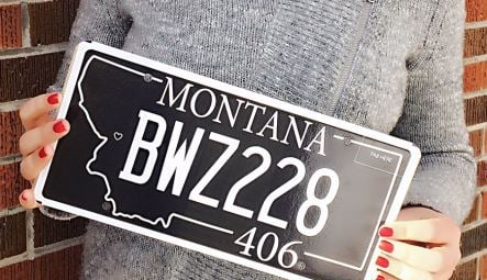 First Team Toyota >> 406 license plate benefiting Missoula Downtown Foundation ...