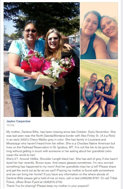 Darlene Billie, missing in St. Ignatius