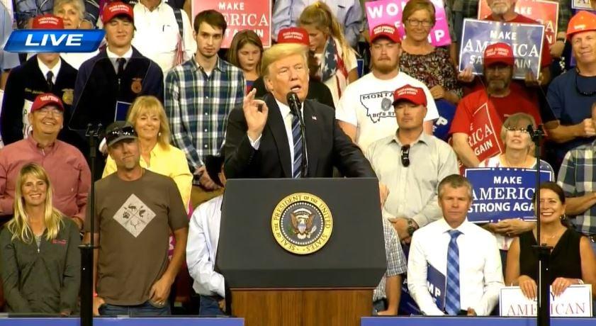 President Trump speaks in Billings