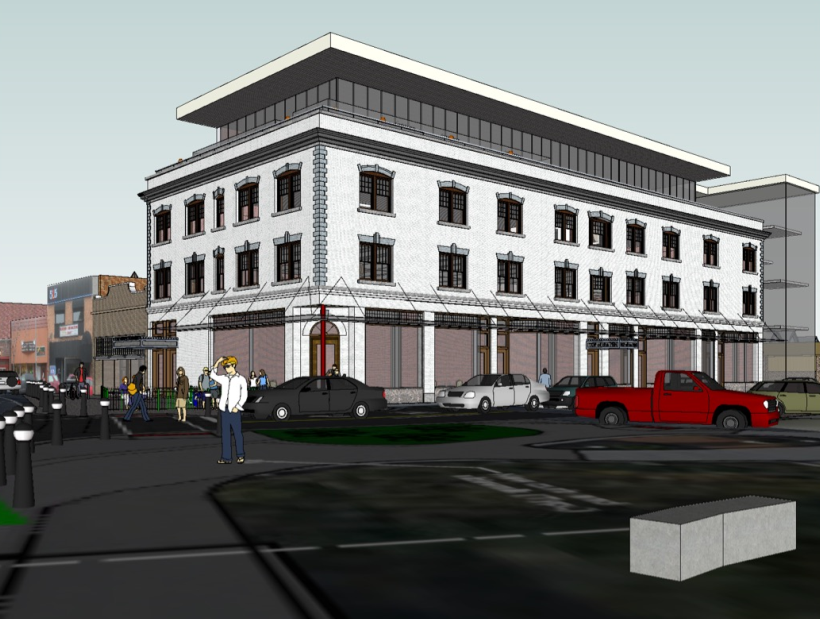 Sketch of the proposed renovations