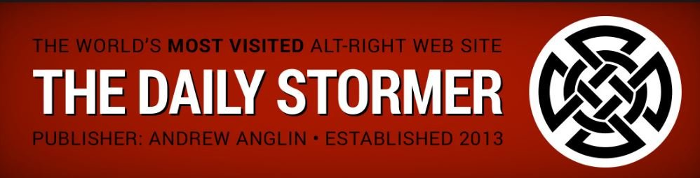 Daily Stormer web banner (source: Wikipedia)